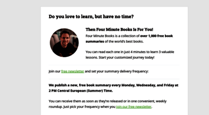 fourminutebooks.com - four minute books - learn from 800 of the best books for free