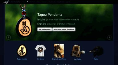 foxloft.com - foxloft studios - tagua animal totems, unique dog breed gift art