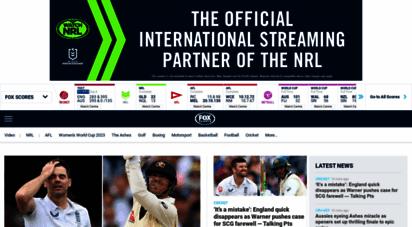 foxsports.com.au - fox sports  live sports scores  nrl, afl, cricket scores