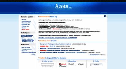fr.nf - nom de domaine gratuit avec azote.org et sans publicite