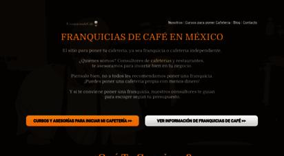 franquiciasdecafe.com.mx - franquicias de café en méxico ☕franquicias de cafeterías