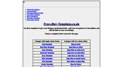 Welcome To Free Ebay Templates Co Uk Free Ebay Auction Templates From Powersellersforum Com