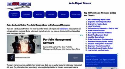 freeautomechanic.com - free auto repair questions and answers - freeautomechanic