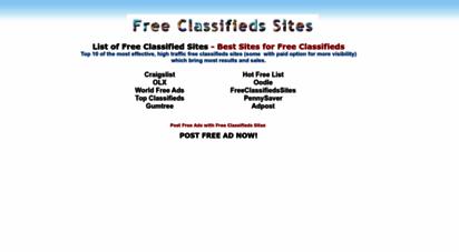 freeclassifiedssites.com -