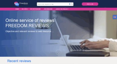freedom.reviews - review websites - site rating - top of most viewed sites  freedom.reviews