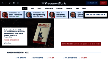 freedomworks.org - freedomworks  lower taxes, less government, more freedom