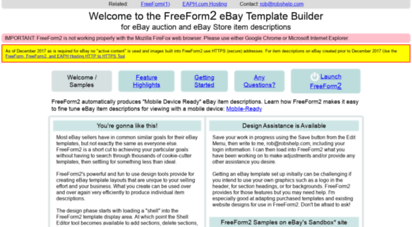 Welcome To Freeform2 Robshelp Com Freeform2 Ebay Template Builder For Ebay Auctions And Ebay Stores