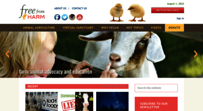 freefromharm.org - free from harm - farmed animal rescue, education and advocacy