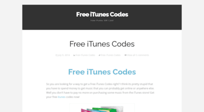 Welcome to Freeitunescodesss wordpress com - Free iTunes