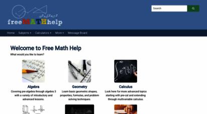 freemathhelp.com - free math help - lessons, games, homework help, and more - free math help