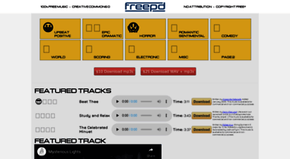 freepd.com - freepd.com - free public domain music creative commons 0 completely royalty free