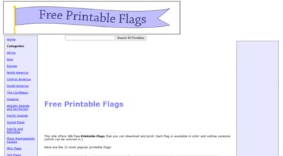 freeprintableflags.com - free printable flags