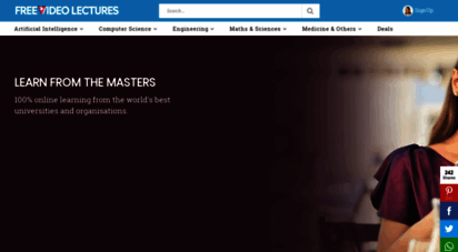 freevideolectures.com - free video lectures, online courses and tutorials from best universities