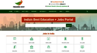 freshersnow.com - freshersnow.com - india´s 1 employment portal