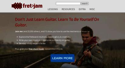 fretjam.com - fretjam guitar lessons online - be yourself on guitar