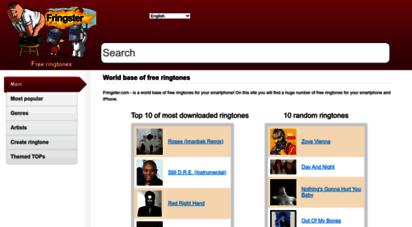 fringster.com - fringster.com - is a world base of free ringtones for your smartphone!  world base of ringtones