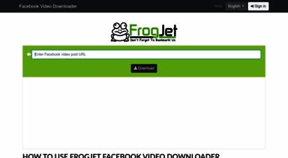 frogjet.com - facebook hd video downloader