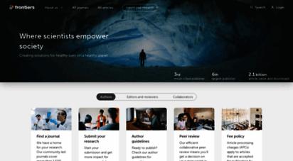 frontiersin.org - frontiers  peer reviewed articles - open access journals