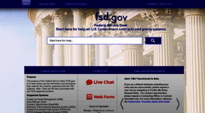 fsd.gov - federal service desk - home