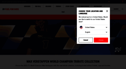 fuelforfans.com - one stop store for f1™ clothing and merchandise  fuel for fans
