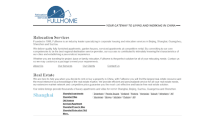 fullhomechina.com - fullhome real estate & relocation services - apartments, villas for rent in shanghai, beijing, guangzhou and suzhou