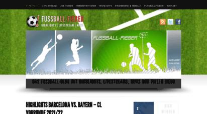 fussball-fieber.org - fussball-fieber - live stream  highlights  news