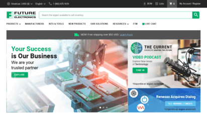 futureelectronics.com - future electronics  global electronic components distributor, capacitor, microcontrollers, wireless