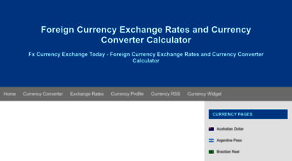 fx-exchange.com - foreign currency exchange rates and currency er calculator - fx currency exchange