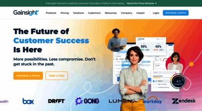 gainsight.com - gainsight: the customer success company  customer success software
