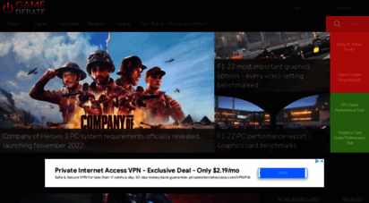 game-debate.com - pc game system requirements, news and hardware test tools
