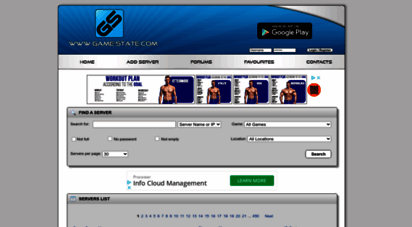 game-state.com - game-state.com :: game server monitor, banners, server stats live
