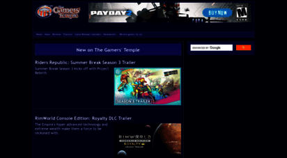 gamerstemple.com - the gamers´ temple - video game reviews, news, videos, and more