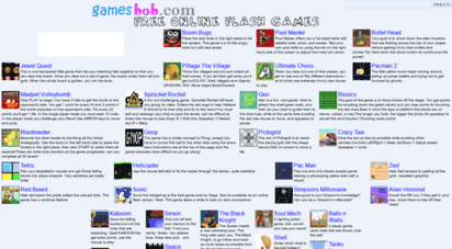 gamesbob.com - gamesbob.com free online flash games