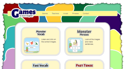 gamestolearnenglish.com - learn english - online esl games