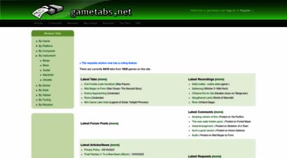 gametabs.net - game tabs // video game tablature