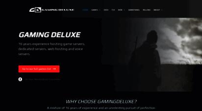 gamingdeluxe.co.uk - game servers, ranked bf3 servers, mw3, teamspeak, dedicated servers, cheap uk game servers  gamingdeluxe