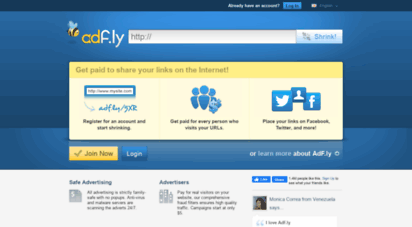 gatustox.net - adfly - the url shortener service that pays you! earn money for every visitor to your links.