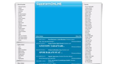 gazetemonline.net - online gazete oku - türk, ulusal, yerel, yabancı, konulu tüm gazeteler ve son dakika haberleri