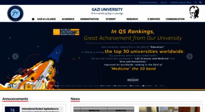 gazi.edu.tr - gazi üniversitesi