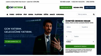 gcmforex.com - forex, cfd ve borsa işlemleri - lisanslı foreks şirketi