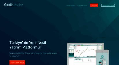 gediktrader.com - gedik trader, türkiye´nin yeni nesil yatırım platformu  gedik yatırım