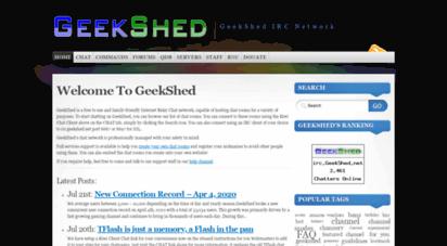 geekshed.net - geekshed irc
