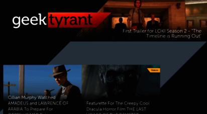 geektyrant.com - geektyrant - geek movie and entertainment news