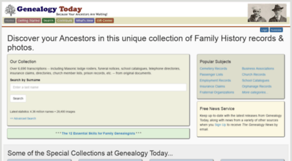 genealogytoday.com - genealogy today  family tree history, ancestry, free lookups