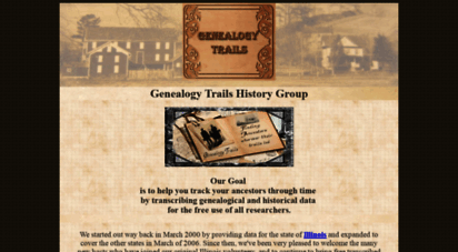 genealogytrails.com - genealogy trails history group - start your family research here