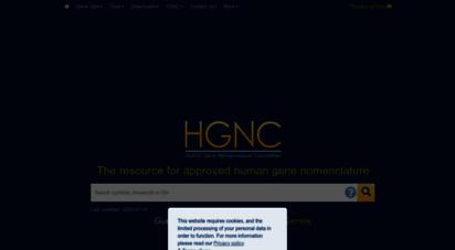genenames.org - home  hugo gene nomenclature committee