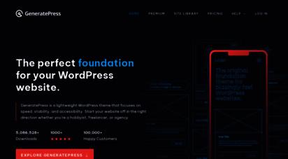 generatepress.com - generatepress - lightweight, responsive wordpress theme