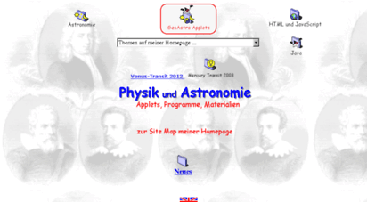 geoastro.de - physik und astronomie: applets, materialien