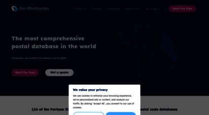 geopostcodes.com - postal and zip code database - geopostcodes