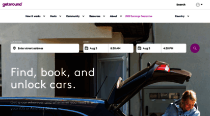 getaround.com - getaround  rent cars instantly and carshare conveniently